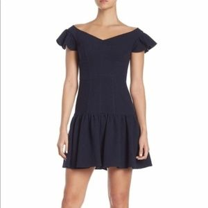 NWT Rebecca Taylor Off The Shoulder Texture Dress